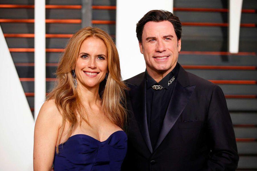 Kelly Preston et John Travolta, en février 2015.
