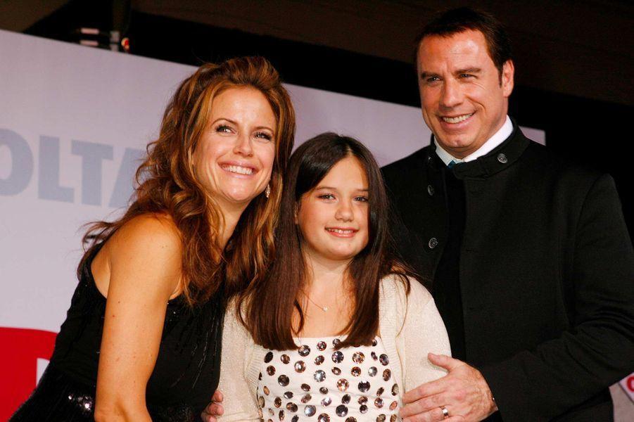 John Travolta et Kelly Preston avec leur fille Ella, en novembre 2009.