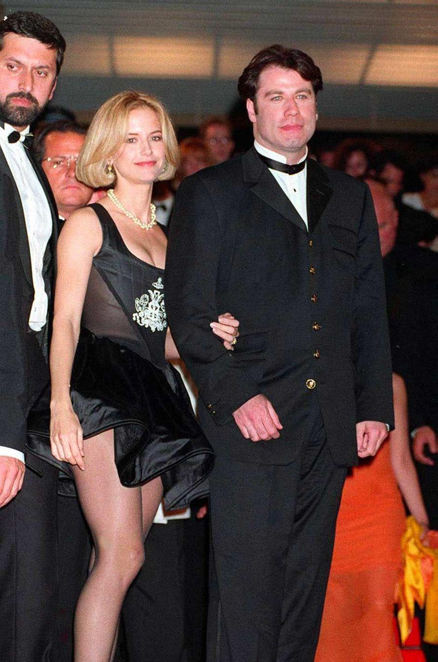 John Travolta et Kelly Preston au festival de Cannes, en mai 1994.