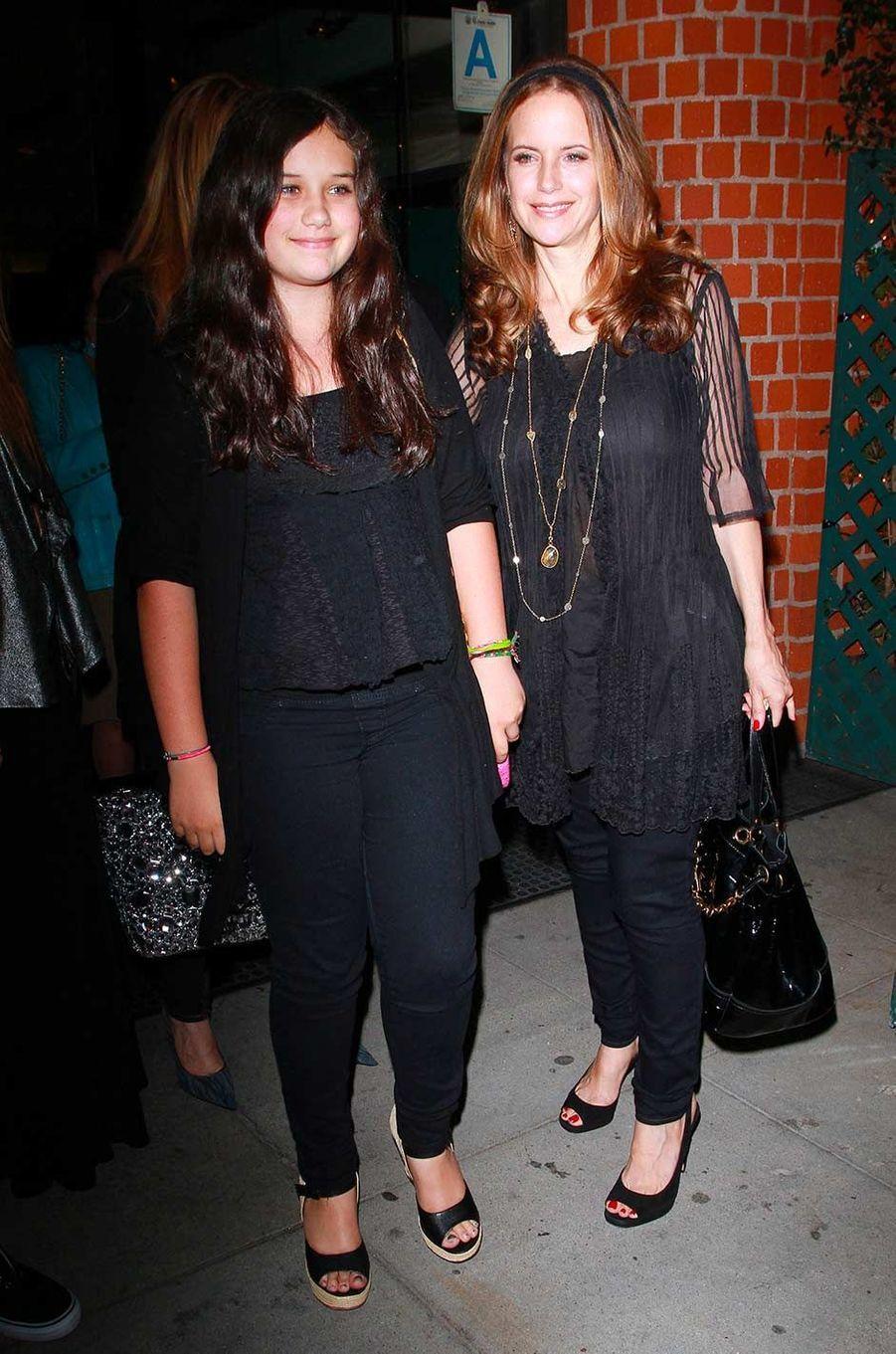 Kelly Preston et sa fille Ella, en mai 2011.