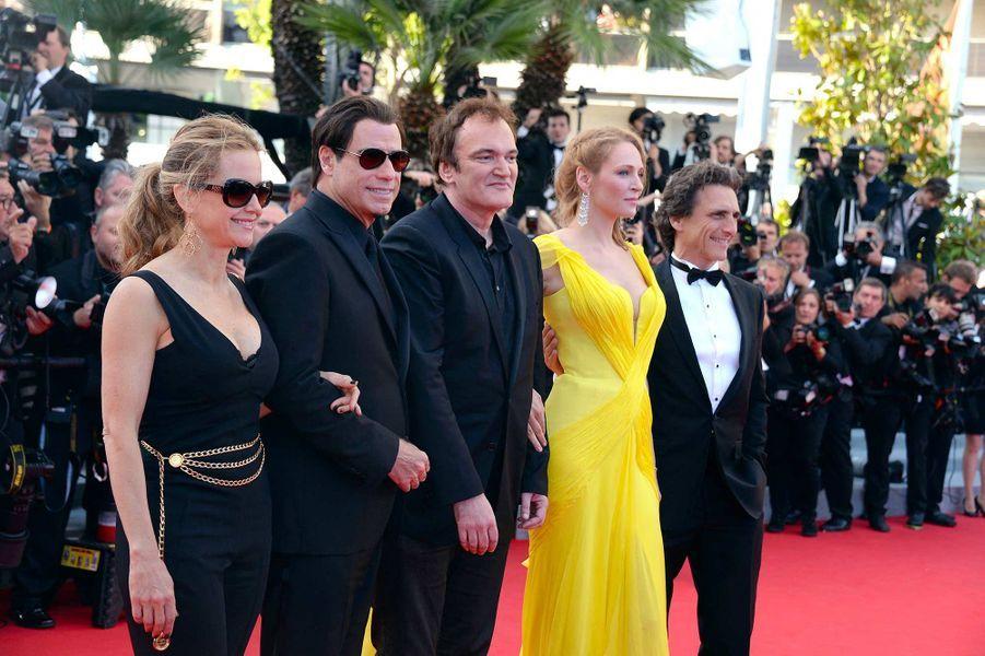 John Travolta et Kelly Preston sur le tapis rouge du festival de Cannes, en mai 2014.