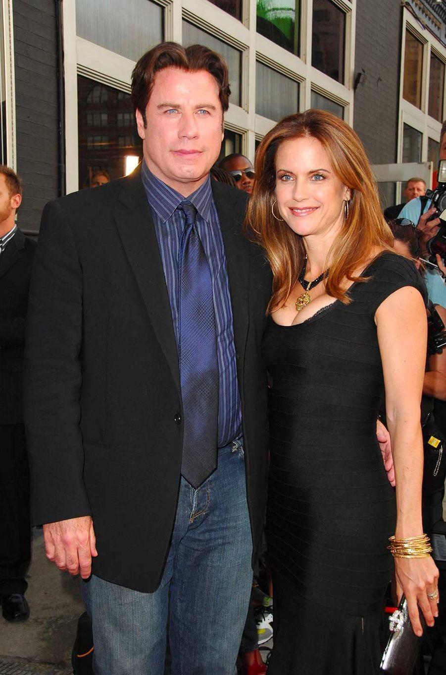 John Travolta et Kelly Preston, en août 2007.