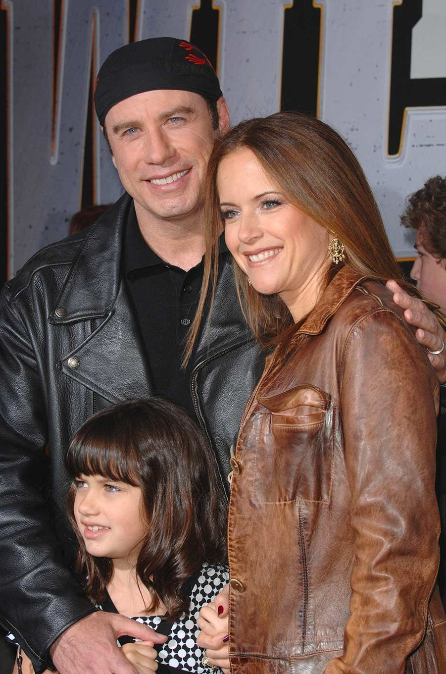 John Travolta et Kelly Preston avec leur fille Ella, en janvier 2007.