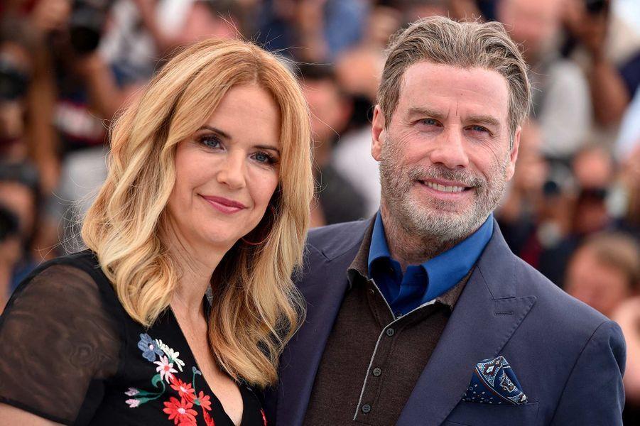 Kelly Preston et John Travolta au festival de Cannes, en mai 2018.