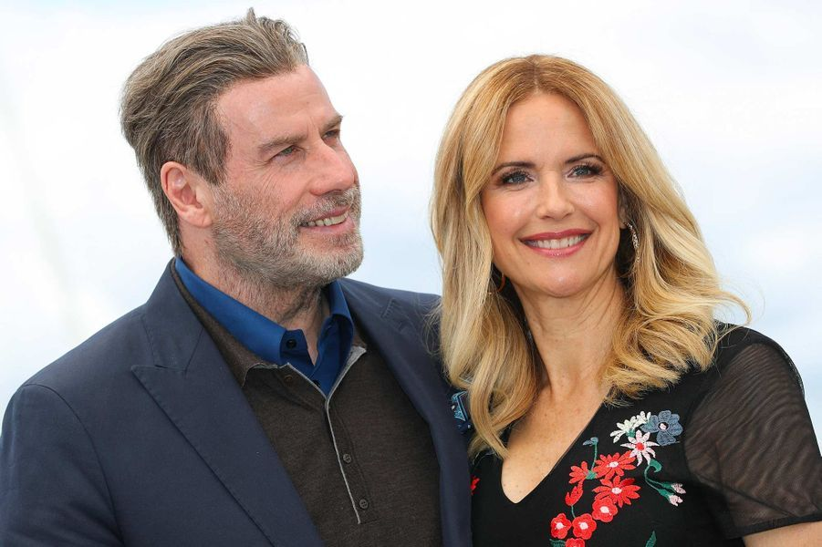 John Travolta et Kelly Preston au festival de Cannes, en mai 2018.