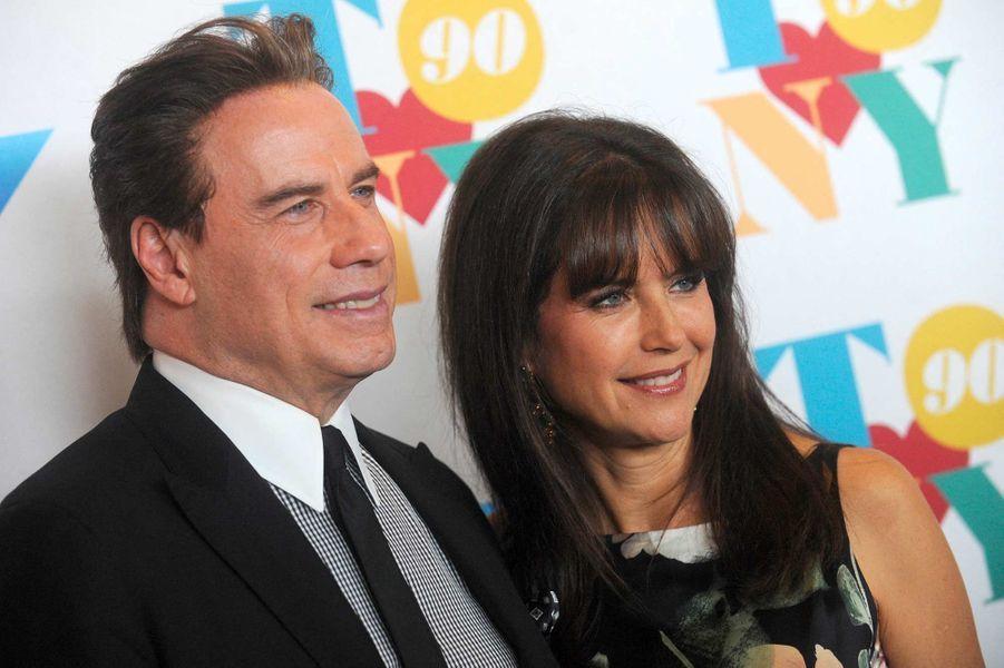 John Travolta et Kelly Preston, en août 2016.