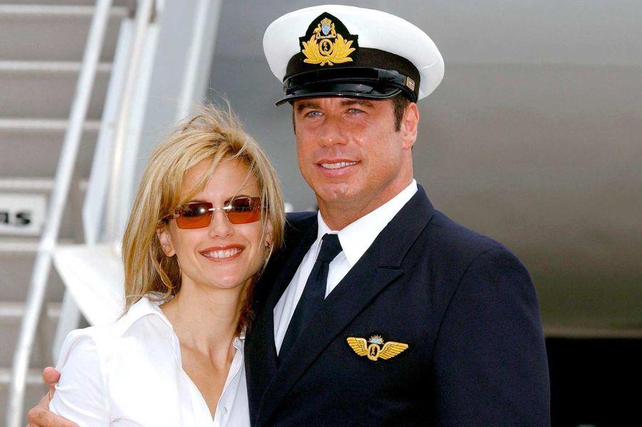 Kelly Preston et John Travolta, en août 2002.