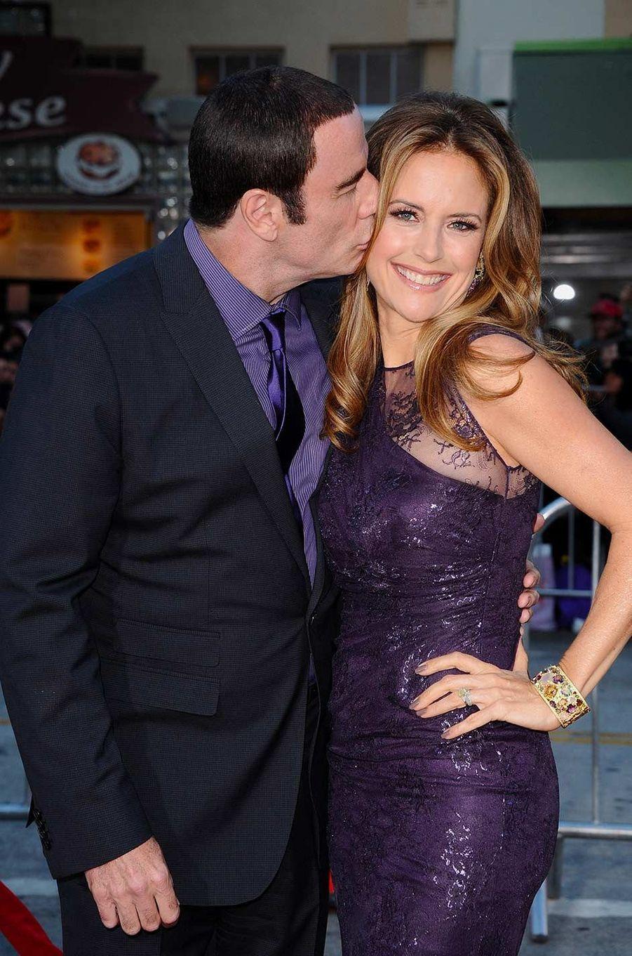 John Travolta et Kelly Preston, en juin 2012.