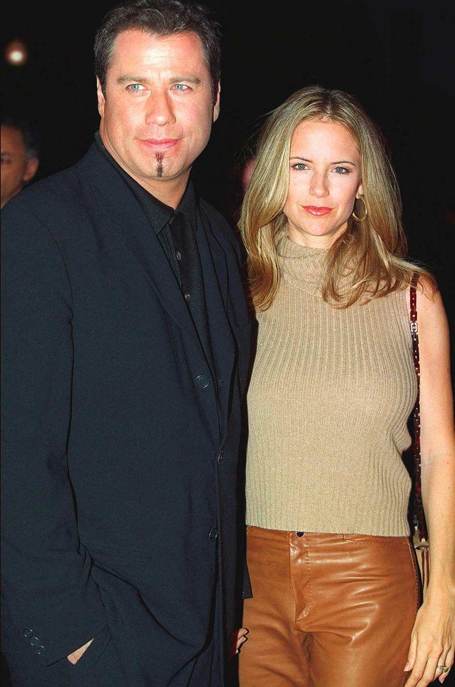 John Travolta et Kelly Preston, en octobre 2000.