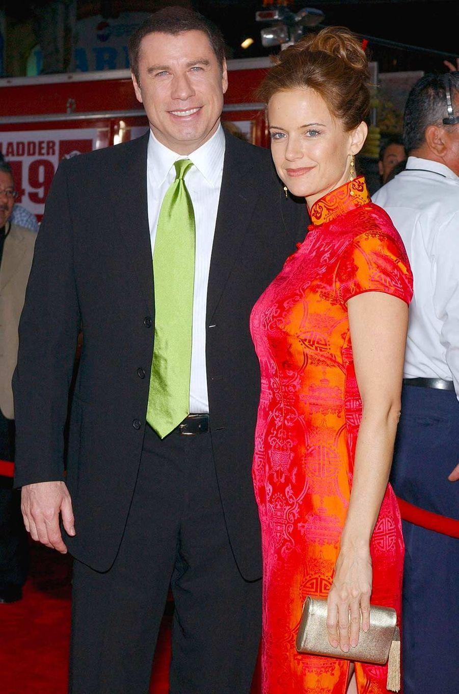 John Travolta et Kelly Preston, en septembre 2004.