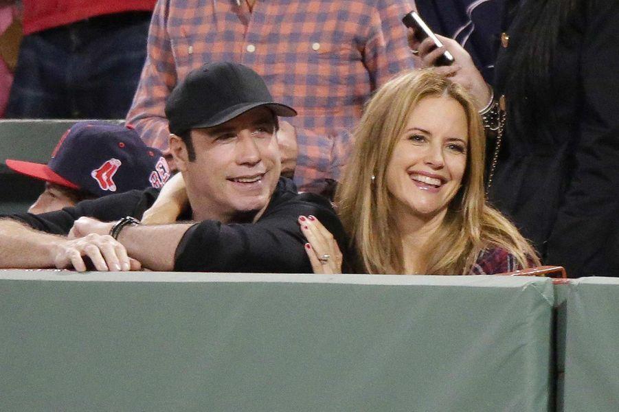 John Travolta et Kelly Preston, en octobre 2013.