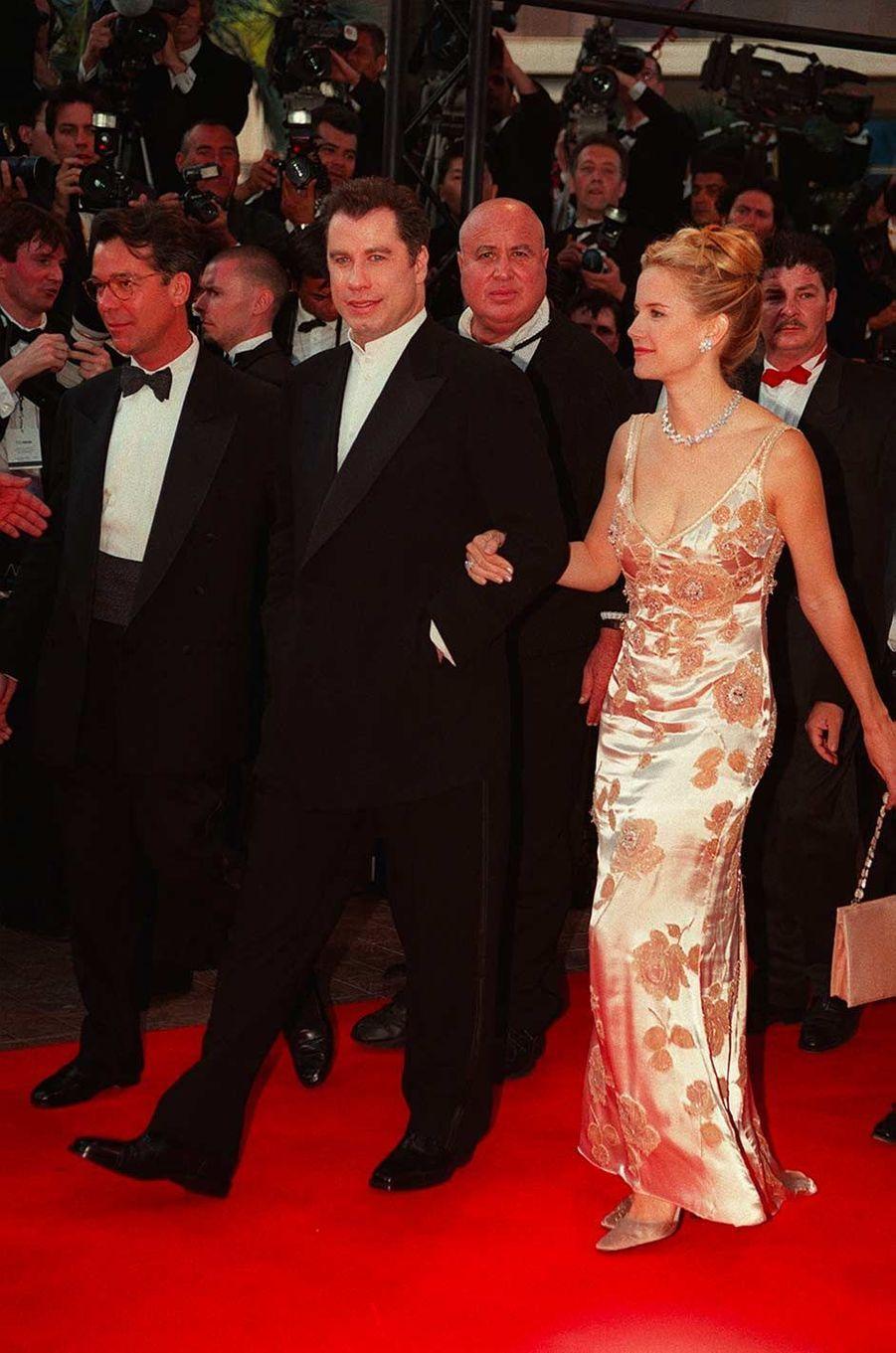 John Travolta et Kelly Preston au festival de Cannes, en mai 1998.