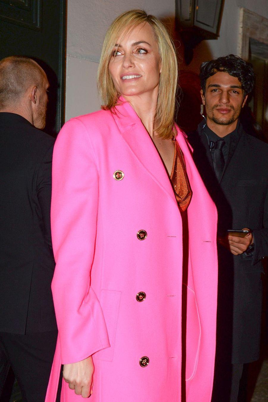 Amber Valletta à Milan le 22 février 2019