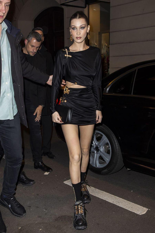 Bella Hadid à Milan le 22 février 2019