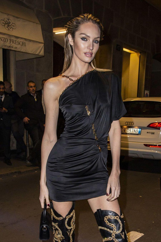 Candice Swanepoel à Milan le 22 février 2019