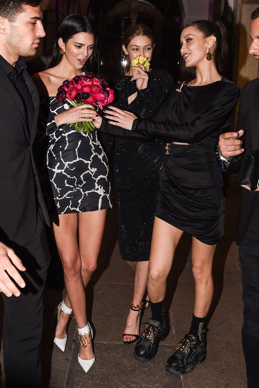 Kendall Jenner, Gigi et Bella Hadid à Milan le 22 février 2019