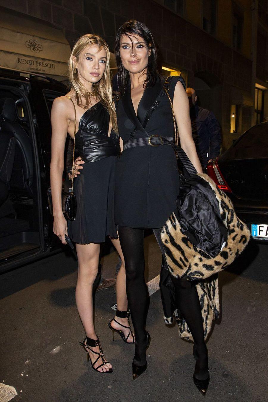 Stella Maxwell et Shalom Harlow à Milan le 22 février 2019