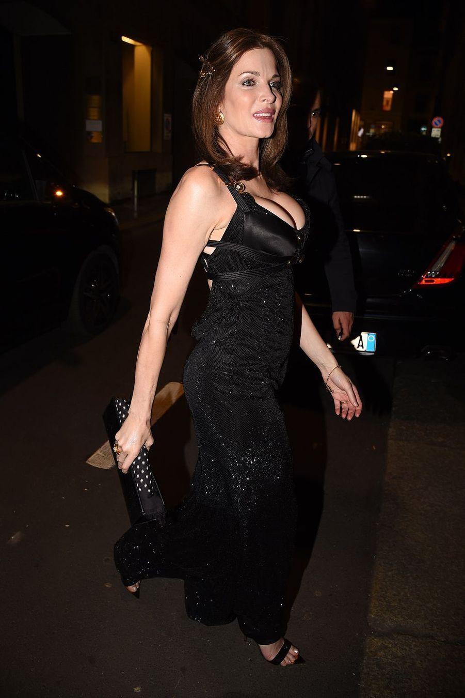 Stephanie Seymour à Milan le 22 février 2019
