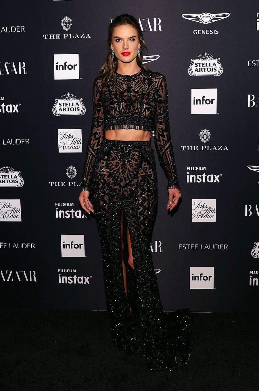 Alessandra Ambrosio à la soirée Harper's Bazaar Icons, vendredi 7 septembre