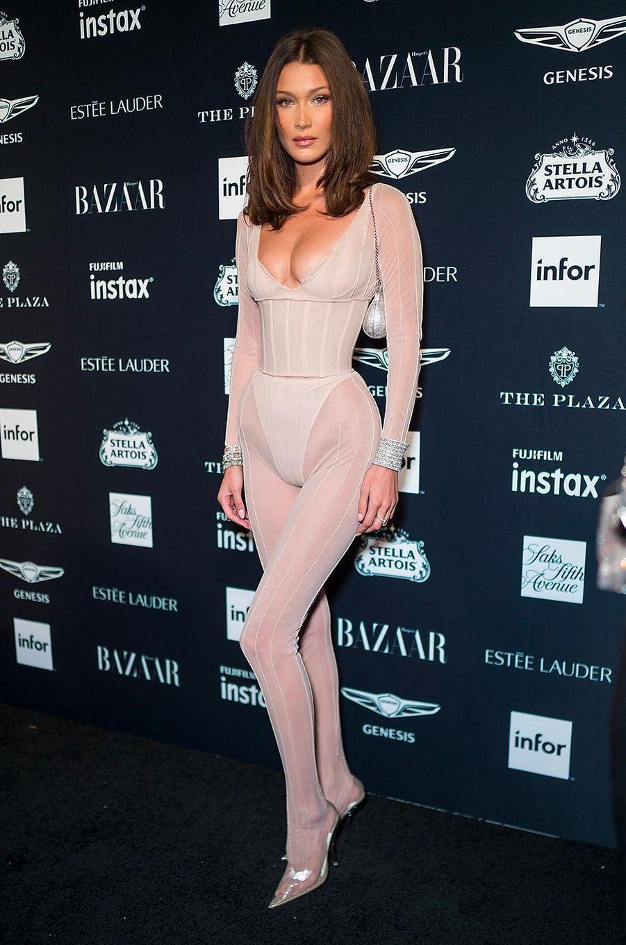 Bella Hadid à la soirée Harper's Bazaar Icons, vendredi 7 septembre