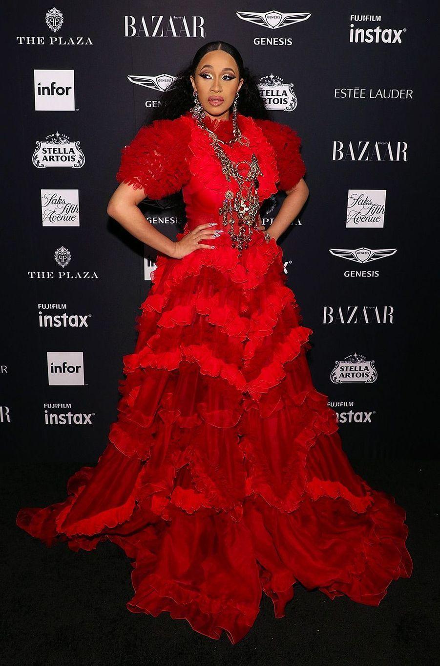 Cardi B à la soirée Harper's Bazaar Icons, vendredi 7 septembre