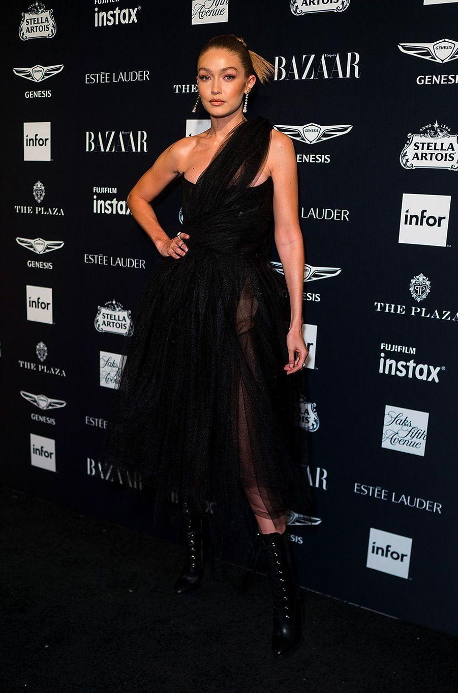 Gigi Hadid à la soirée Harper's Bazaar Icons, vendredi 7 septembre