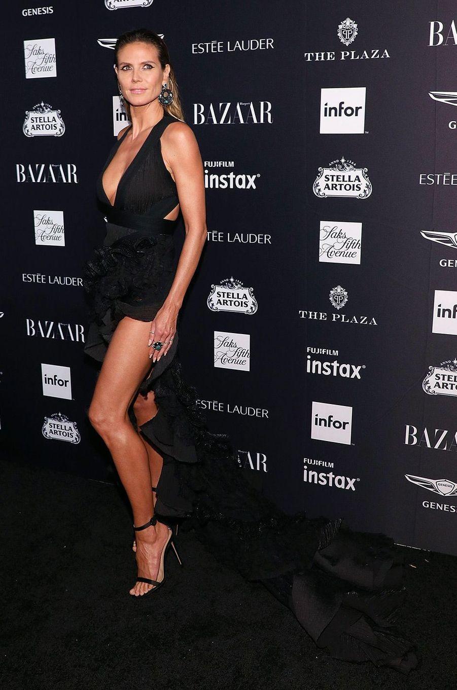 Heidi Klum à la soirée Harper's Bazaar Icons, vendredi 7 septembre