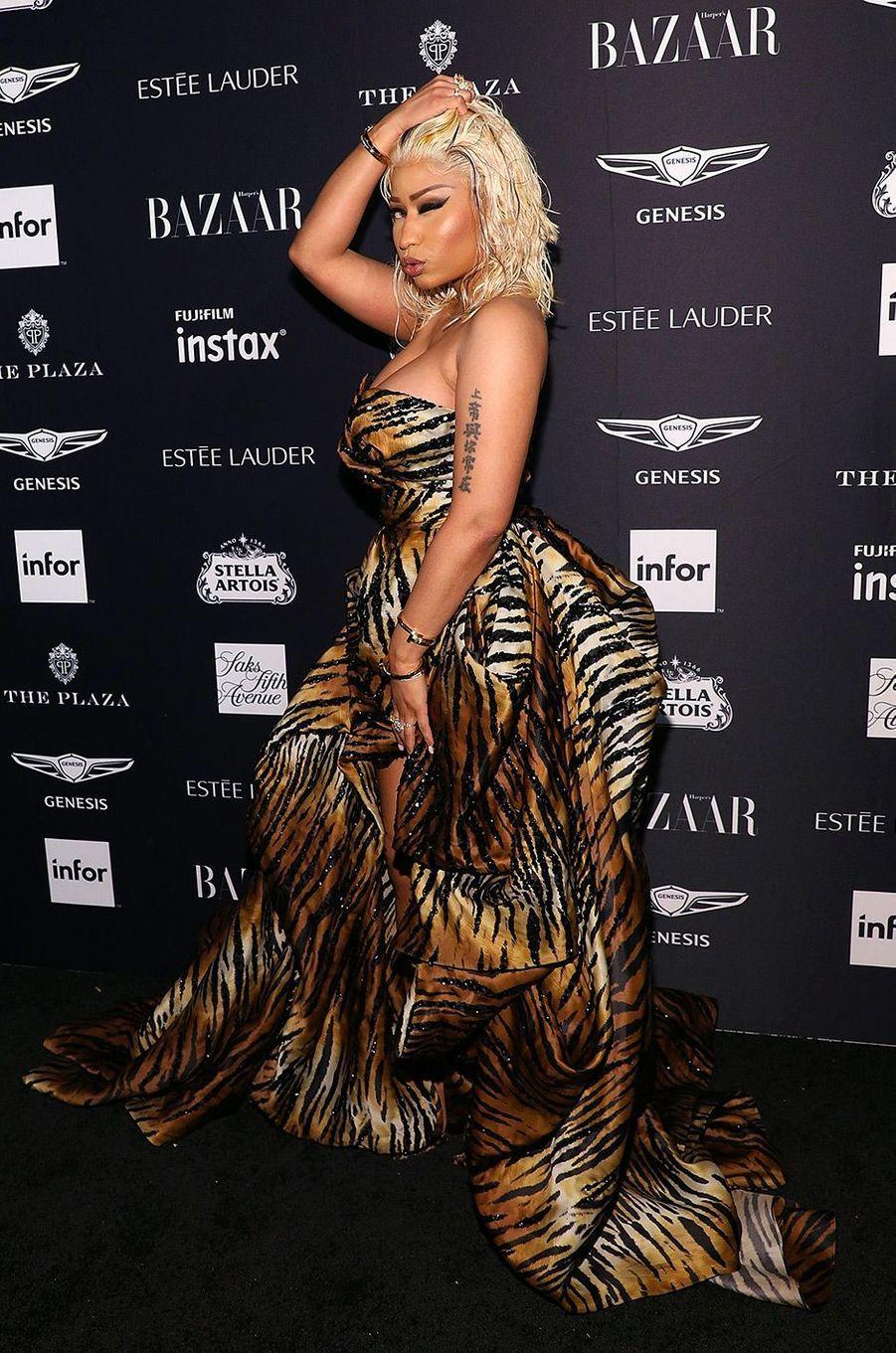 Nicki Minaj à la soirée Harper's Bazaar Icons, vendredi 7 septembre