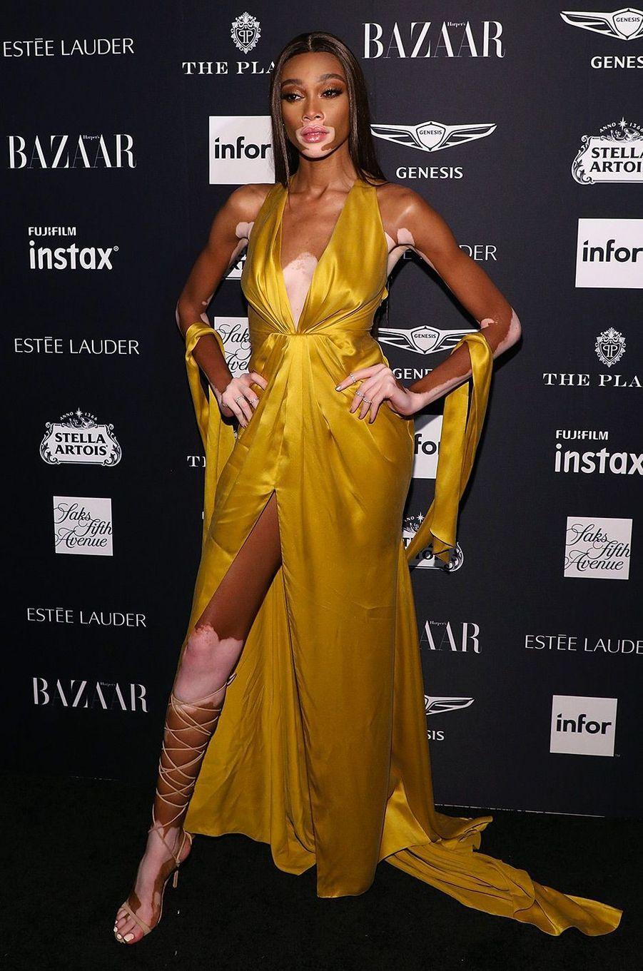 Winnie Harlow à la soirée Harper's Bazaar Icons, vendredi 7 septembre