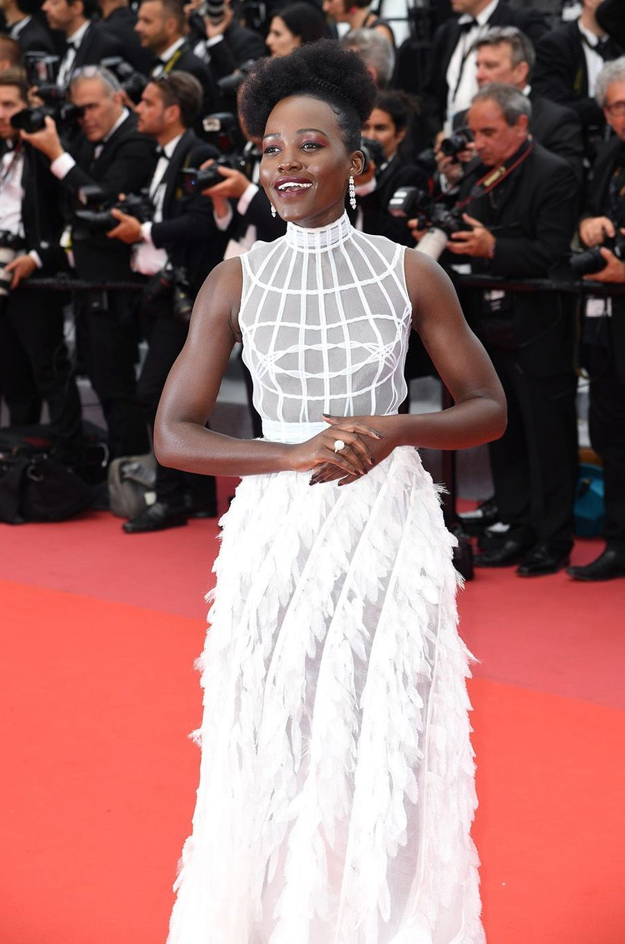 Lupita Nyong'o a osé la transparence à Cannes.