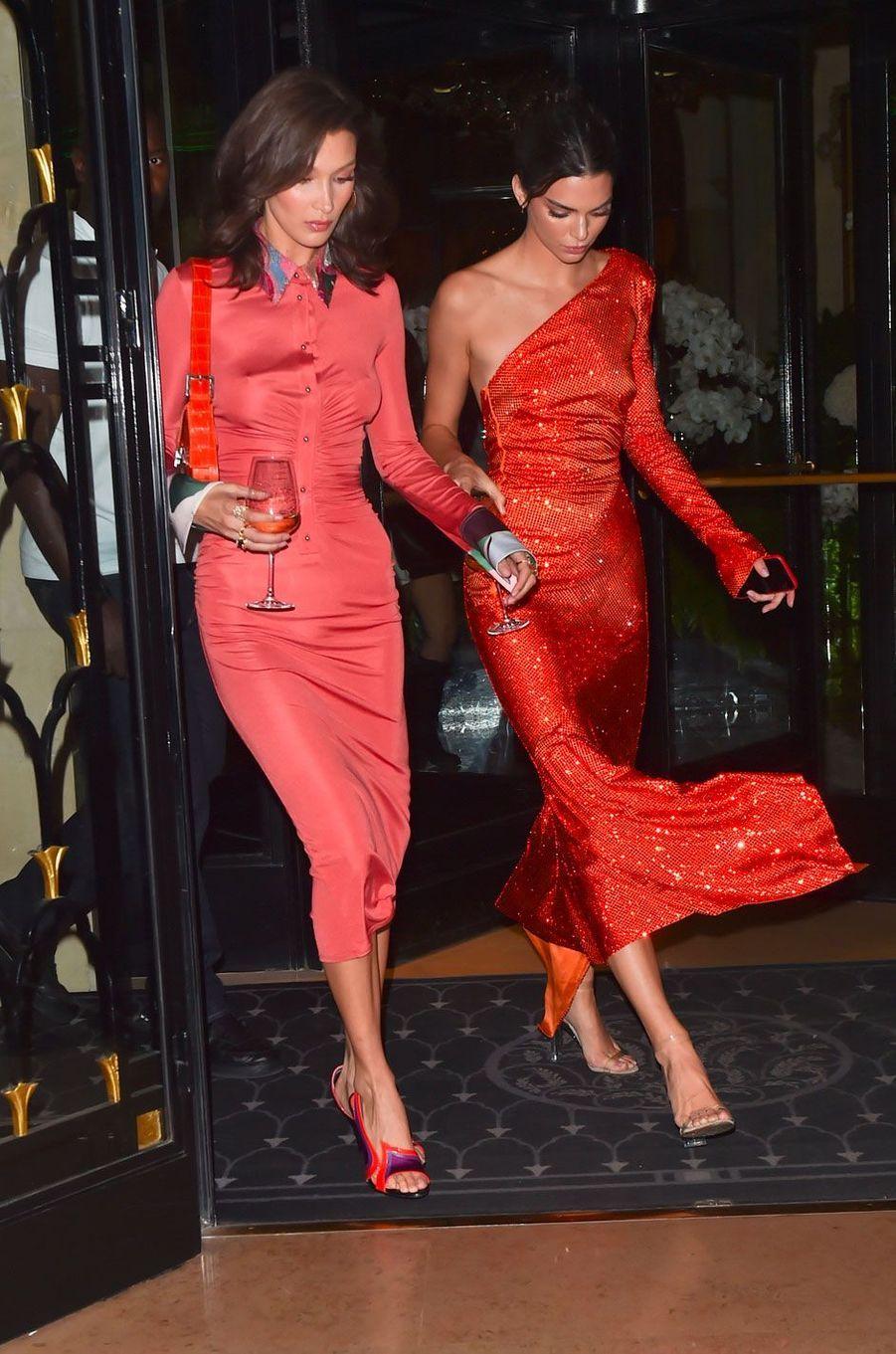 Kendall Jenner et Bella Hadid à Paris le 26 septembre 2018