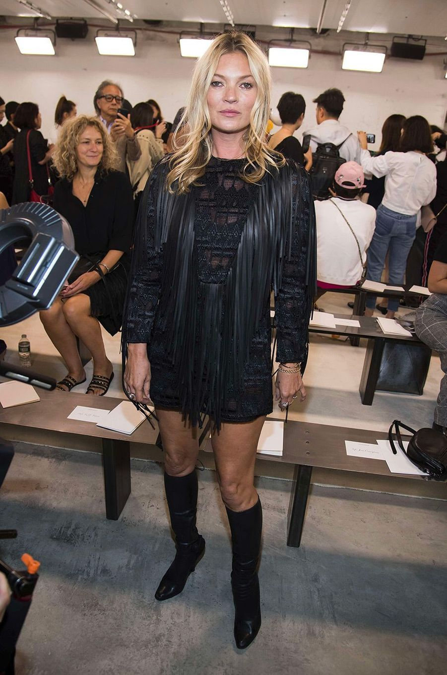 Kate Moss au défilé Longchamp à New York, samedi 8 septembre