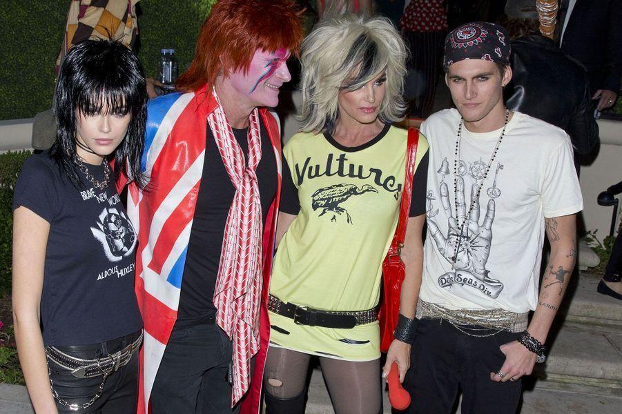 Kaia Gerber, Rande Gerber, Cindy Crawford et Presley Gerber à la soirée Casamigos, samedi 26 octobre