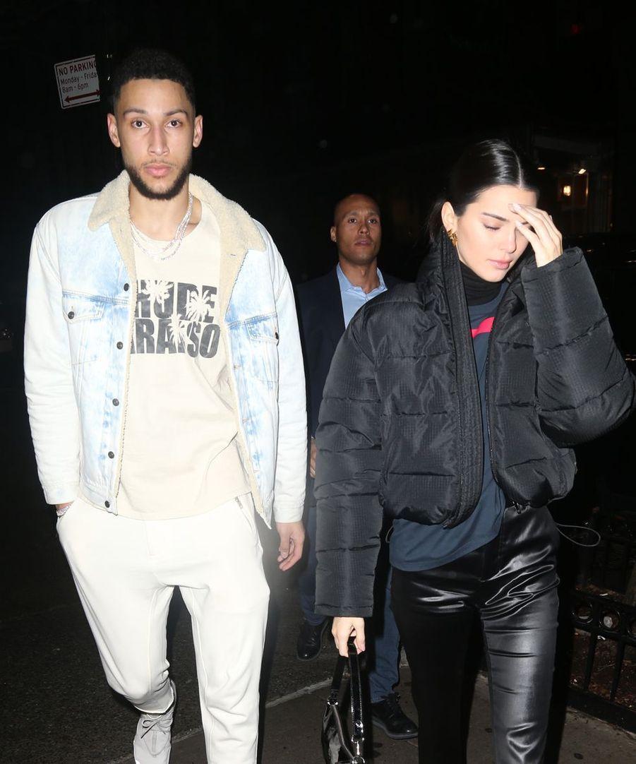 Kendall Jenner et son chéri Ben Simmons à New York le 7 février 2019