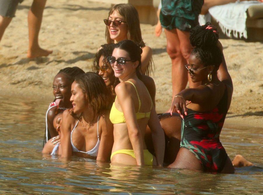 Kendall Jenner àMykonos, le 8 juillet 2019