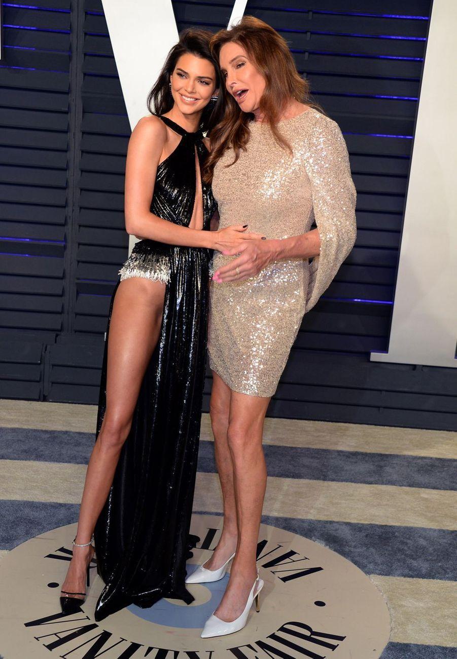 Kendall Jenner et Caitlin Jenner lors de la Soirée Vanity Fair Oscar Party à Los Angeles, le 24 février 2019