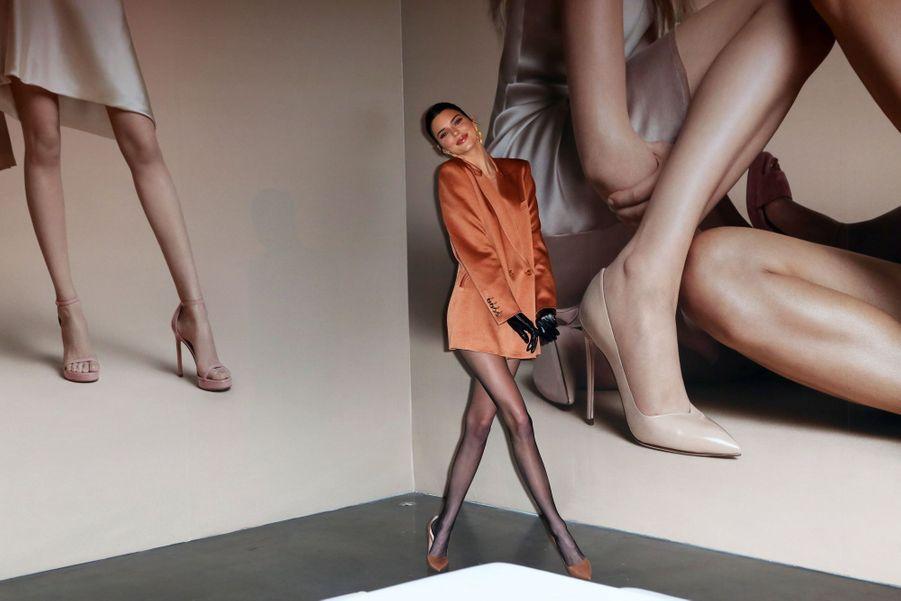 Kendall Jenner à la présentation de la marque Stuart Weitzman lors de la Fashion Week à New York le 12 février 2019