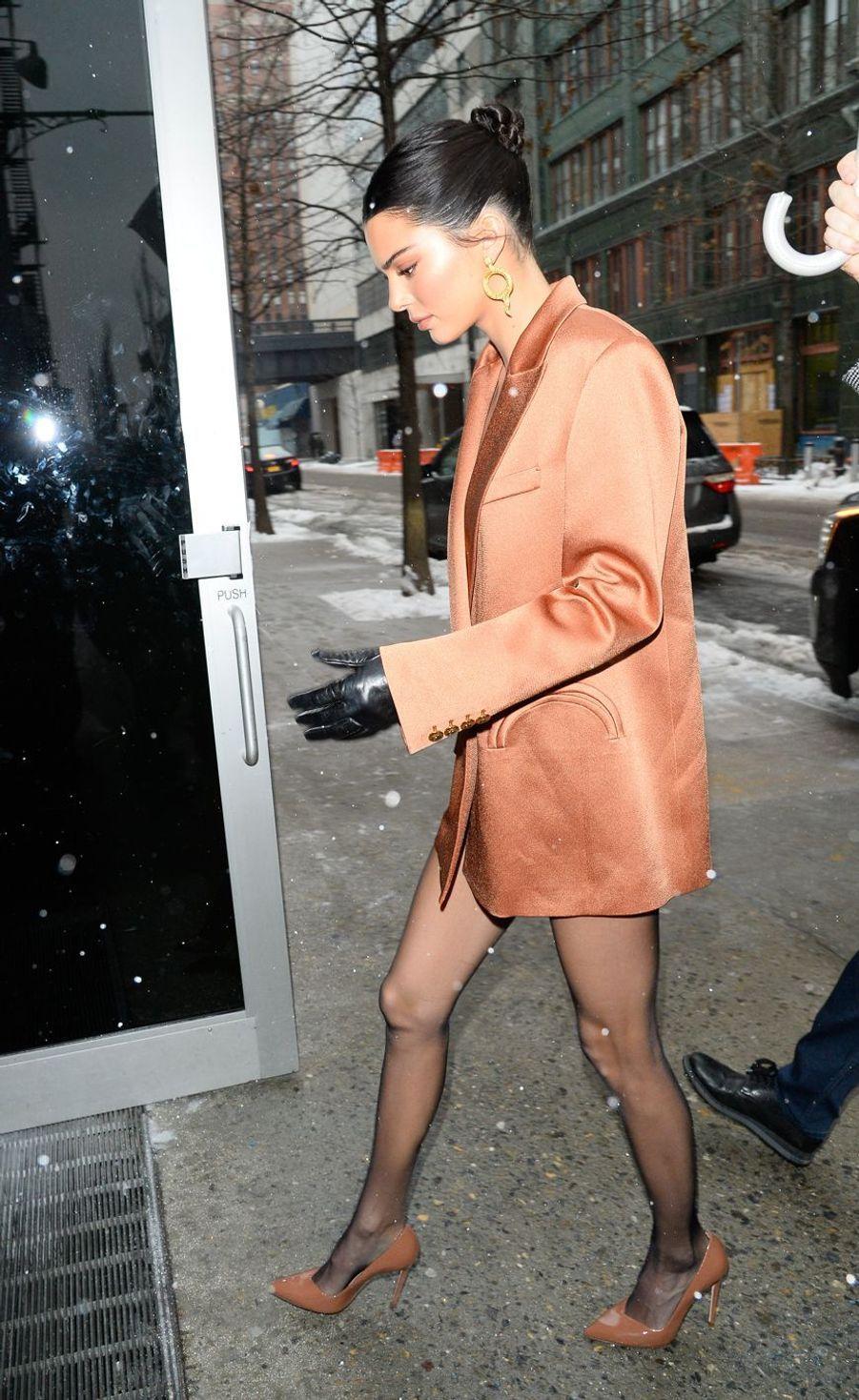 Kendall Jenner à New York le 12 février 2019