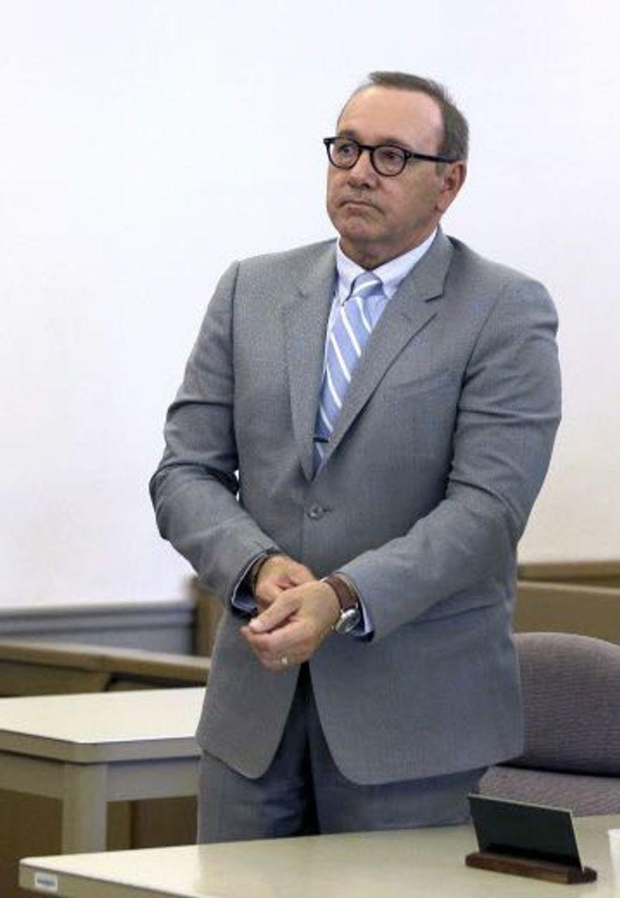 Kevin Spacey lors de son procès,le lundi 3 juin 2019,pour agression sexuelle sur un jeune homme de 18 ans.