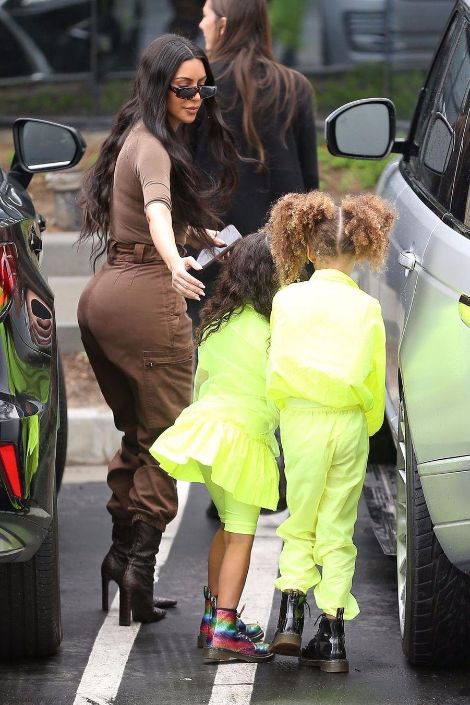 Kim Kardashian et sa fille North à Calabasas le 3 mars 2019