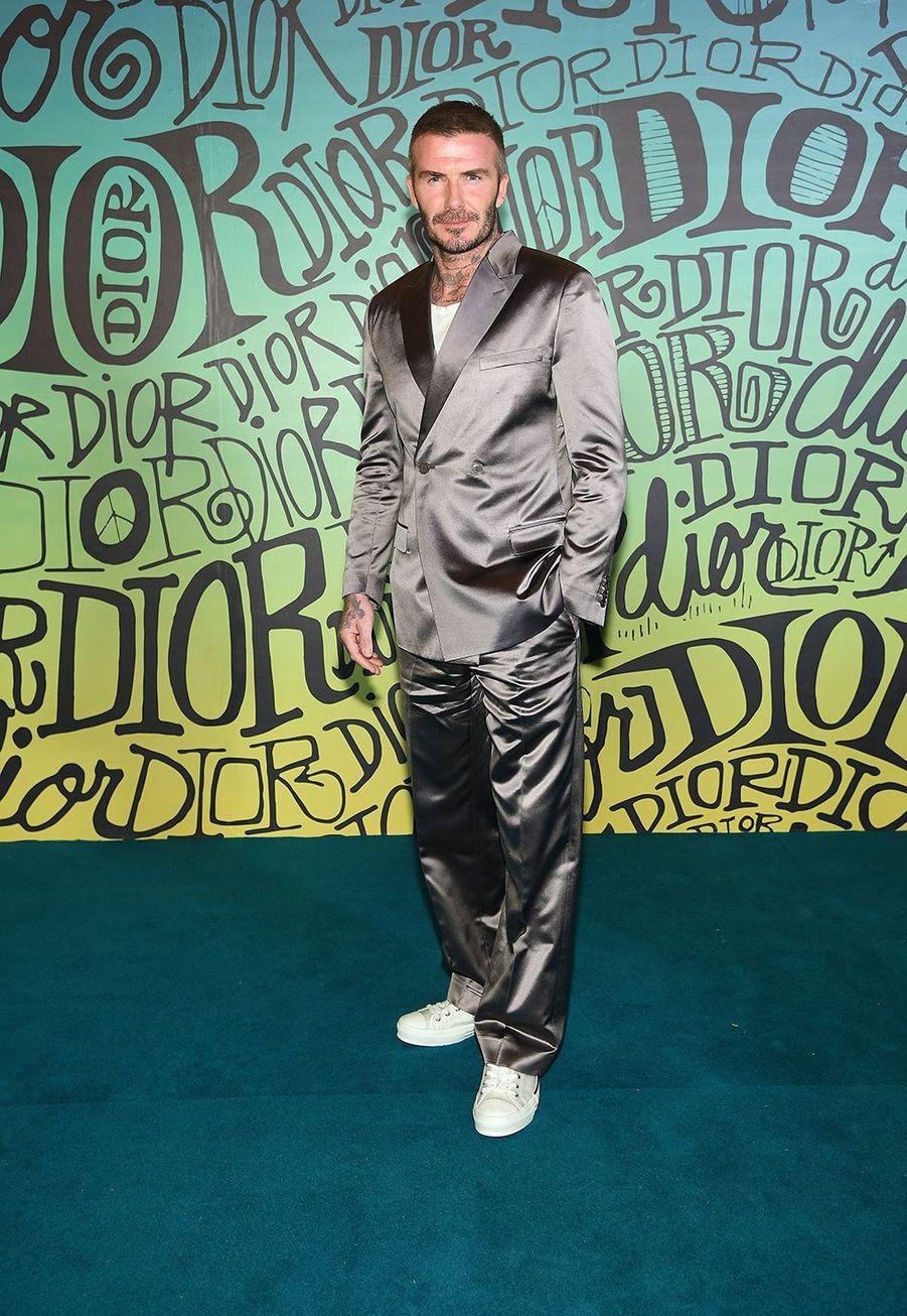 David Beckhamassiste au défilé automne-hiver 2020 Dior à Miami le 3 décembre 2019.