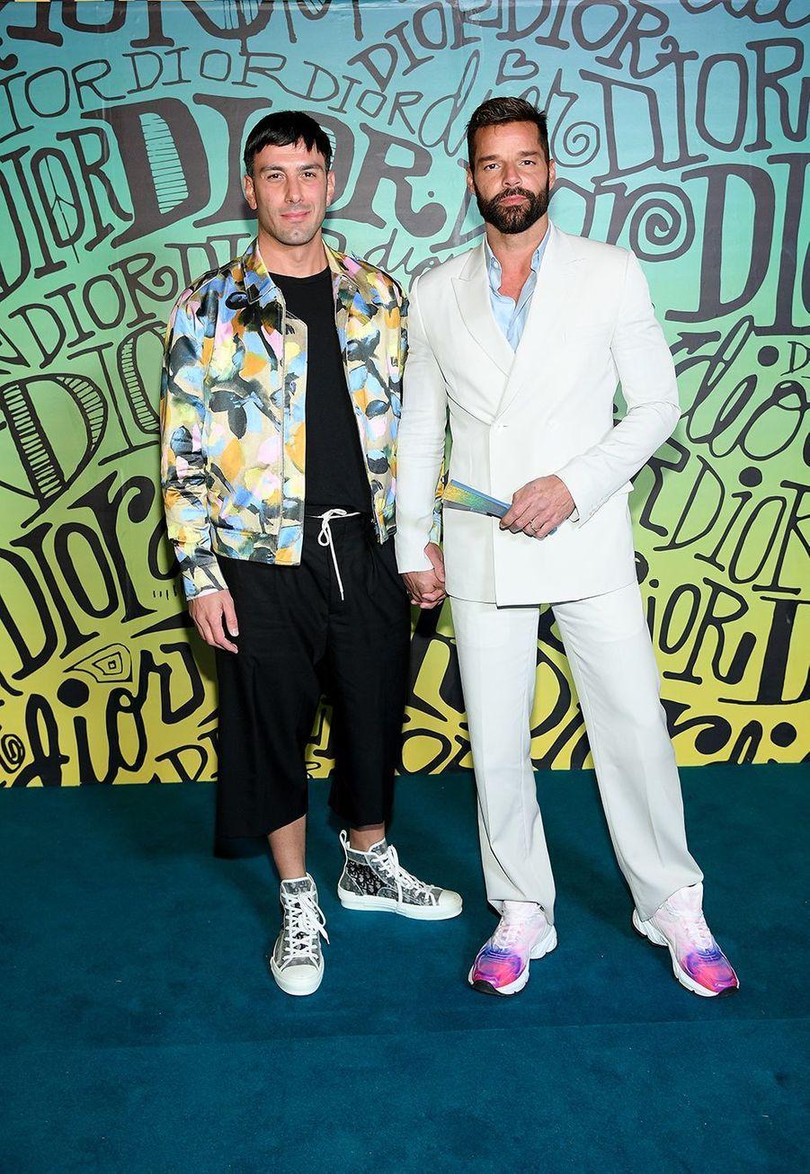 Jwan Yosef et Ricky Martinassistent au défilé automne-hiver 2020 Dior à Miami le 3 décembre 2019.