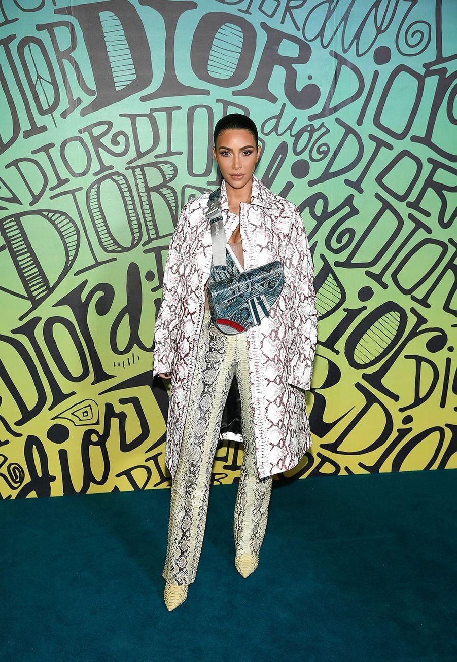 Kim Kardashianassistent au défilé automne-hiver 2020 Dior à Miami le 3 décembre 2019.
