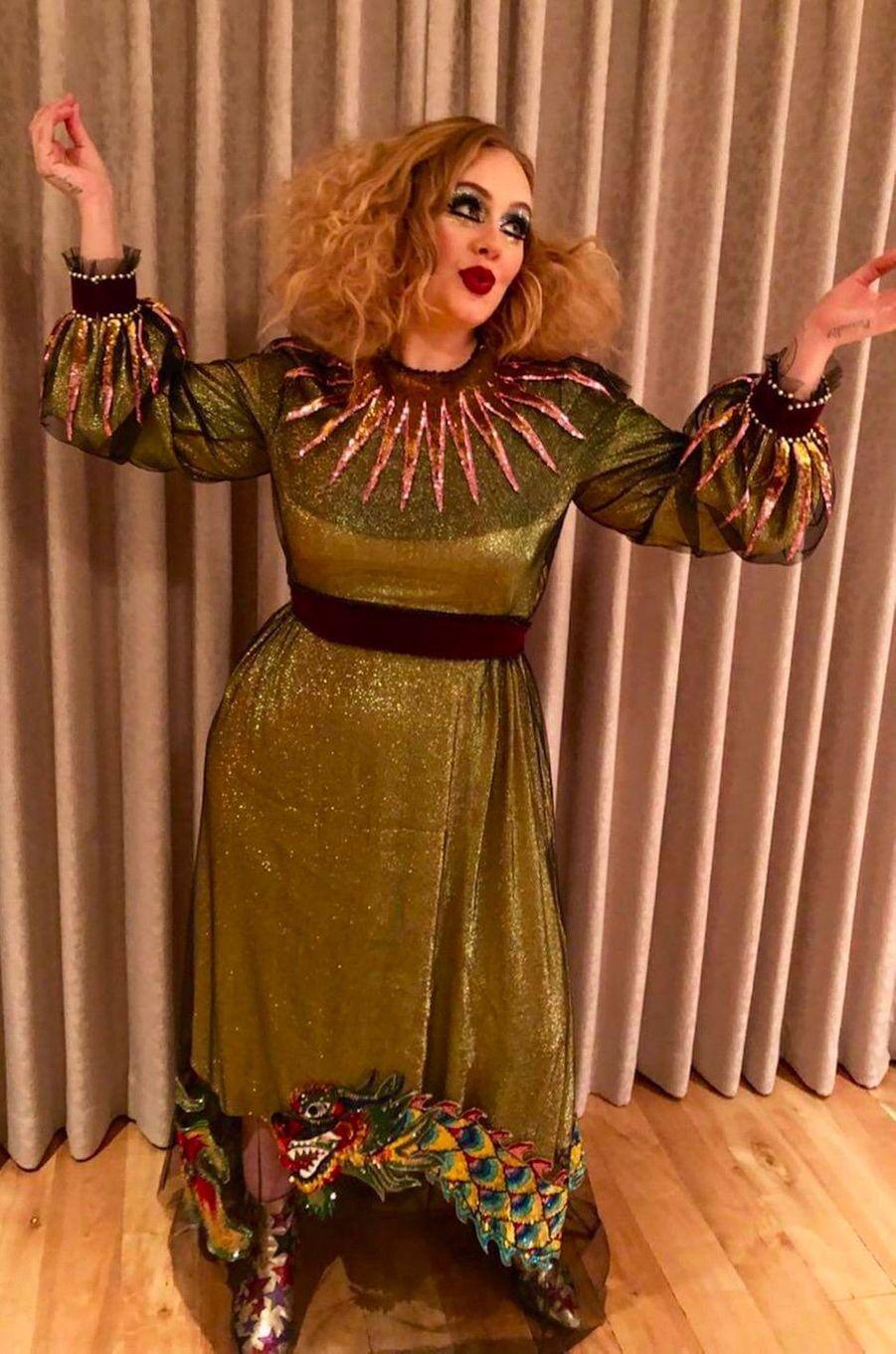 Le déguisement d'Adèle pour Halloween