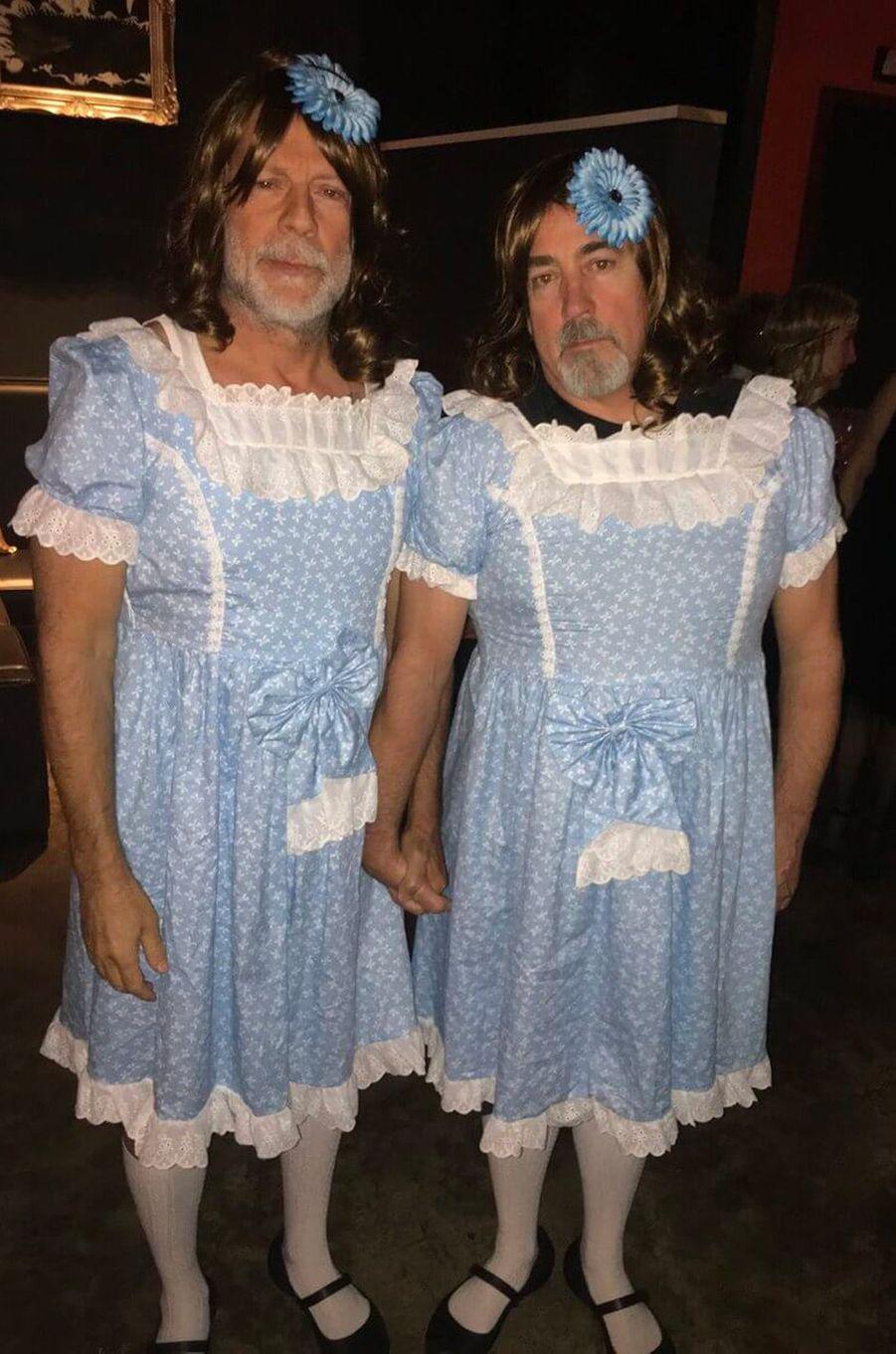 Le déguisement de Bruce Willis et son assistant Stephen J. Eads pour Halloween