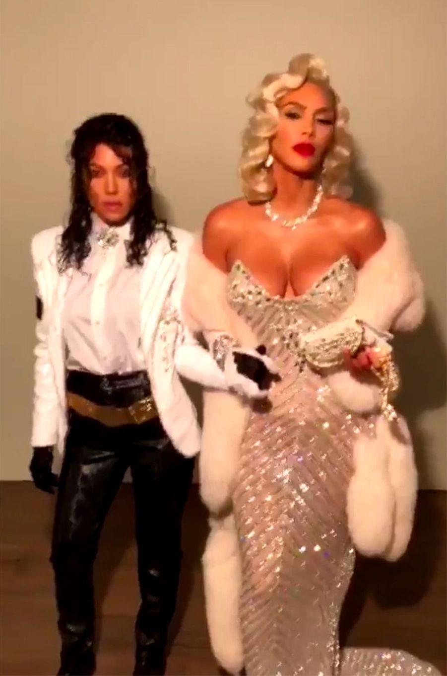 Les déguisements de Kim et Kourtney Kardashian pour Halloween