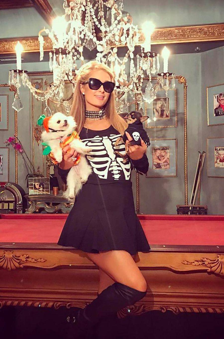 Le déguisement de Paris Hilton pour Halloween