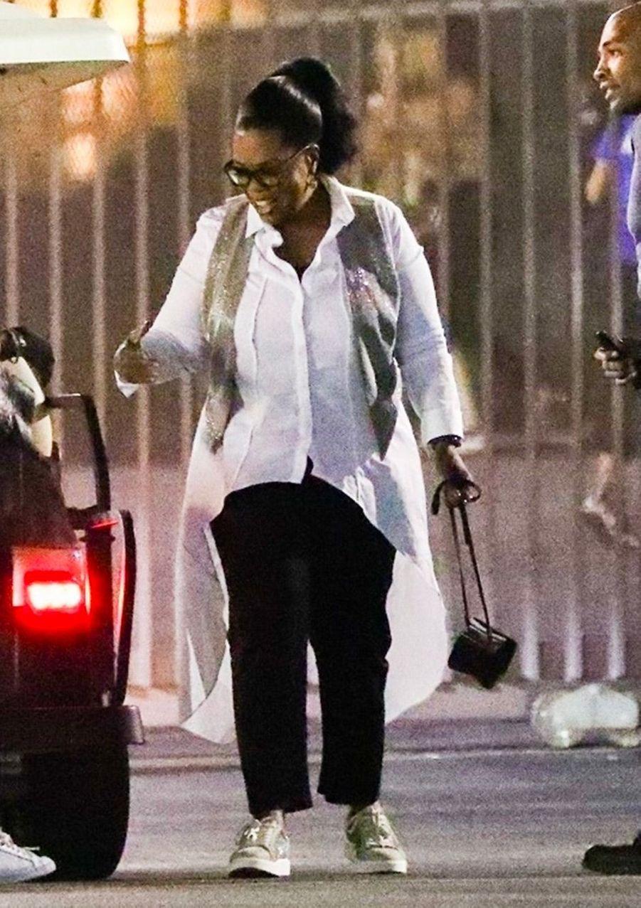 Oprah Winfrey au concert de Beyoncé et Jay Z, à Los Angeles, dimanche 23 septembre