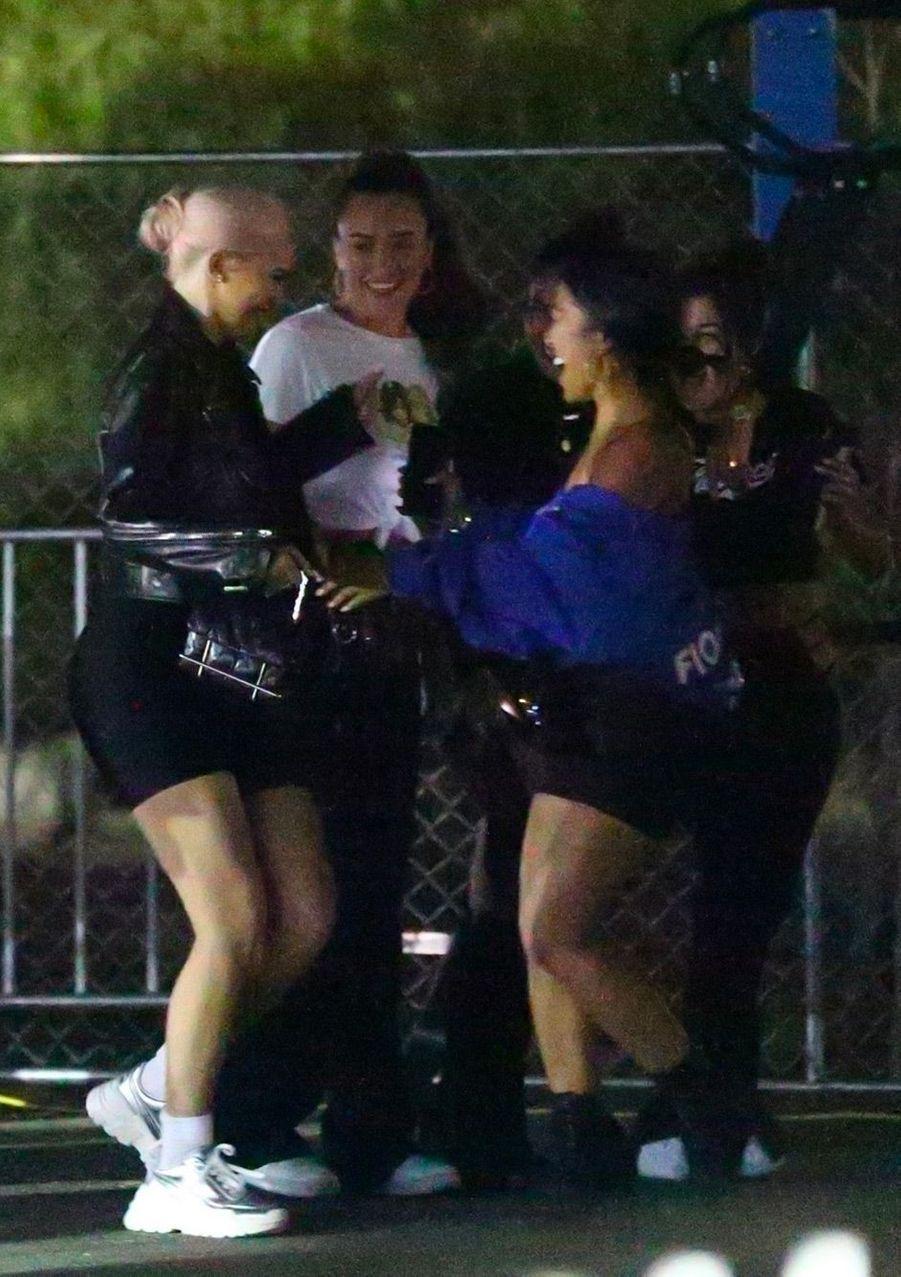 Kylie Jenner et ses amis au concert de Beyoncé et Jay Z, à Los Angeles, dimanche 23 septembre