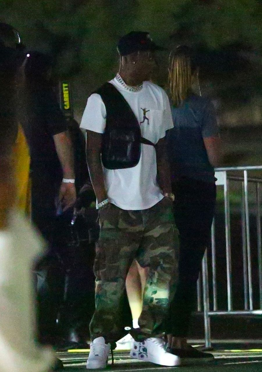 Travis Scott au concert de Beyoncé et Jay Z, à Los Angeles, dimanche 23 septembre